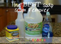 DIY home made soap scum removed recipe.