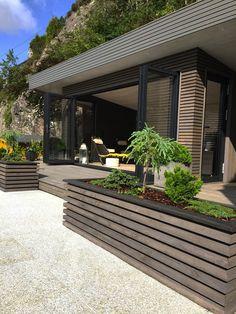 Stilfull utestue i spiler – Bergene Holm Blogg Outdoor Garden Rooms, Small Backyard Gardens, Backyard Patio Designs, Outdoor Decor, Outdoor Spaces, Modern Landscaping, Backyard Landscaping, Pergola, Outside Living