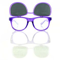 Transparent Purple Diffraction Glasses W/ Flip Up Tinted Lenses - Wayfarer Inspired - Highest Quality Diffraction Effect available! The Rave Review LLC http://www.amazon.com/dp/B00KTB0FMI/ref=cm_sw_r_pi_dp_iKmNtb0D6NHSZWA5