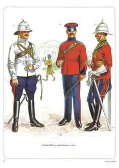 British officers,4th Cavalry,1910.