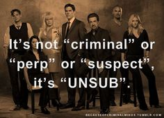 Yes! That's how I refer to them all the time while talking about criminal minds