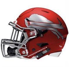 A concept helmet fans make all the time New Nfl Helmets, College Football Helmets, Buffalo Bills Football, New Helmet, Helmet Logo, Football Uniforms, Nfl Football Players, Nfl Football Teams, Custom Football