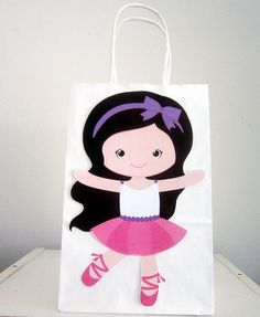 Ballerina Birthday Party Favor Goody Bags CraftyCue.com