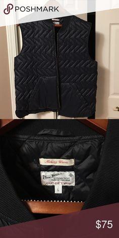 Grant Rugger quilted vest Grant Rugger quilted navy vest size Large Gant Jackets & Coats Vests