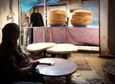 Traditional Kurdish bread, north Iraq