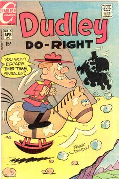 COMIC dudley do-right 5 #comic #cover #art