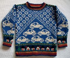 Cars Sweater (there are some amazing sweaters in this etsy shop!)