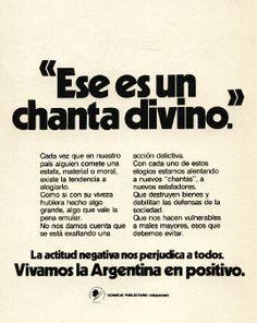 """""""Vivamos la Argentina en positivo 4""""-1976"""