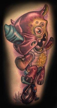 1621e98cc43 New school tattoo by Tanana Whitfield La Luna Tattoo