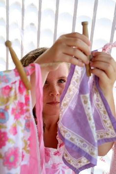 Hung clothes on the clothesline out in the back yard. Nothing smelled as fresh as clothes whipped dry in the soft summer wind
