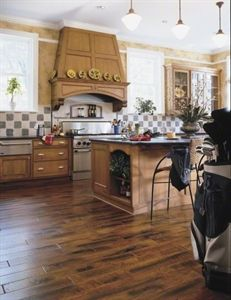 """Show details for Anderson Eagle Lodge Maple- Dark Toast 5"""" Brown hardwood, wide plank, smooth surface"""