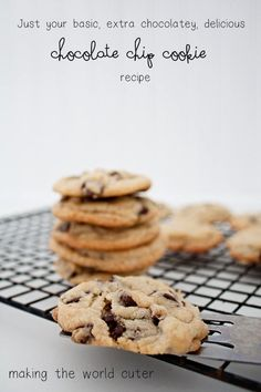 Basic Chocolate Chip Cookie Recipe - Making the World Cuter