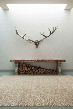 Antler wall display
