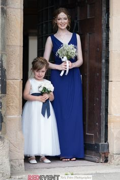 Flower Girl Bebe wears a dress from Tara Lee Bridal and Molly wears a blue bridesmaid dress by Elegance Bridal, hair by Claire Kendrick and Make Up by DW Make Up. Necklace from Rojers Jewellery and flowers by Katie's Floral Creations