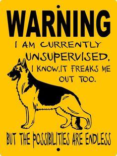 GERMAN SHEPHERD DOG SIGN WUS1