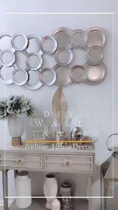 Diy Room Decor Videos, Diy Crafts For Home Decor, Diy Crafts Hacks, Diy Crafts For Gifts, Diy Arts And Crafts, Diy Projects, Diy Wall Art, Diy Wall Decor, Creation Deco