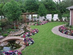 Outdoor, Good Backyard Ideas on A Budget: Large Backyard Landscaping Fishpond Ideas