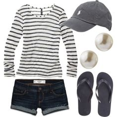 Comfy casual outfit with polo cap! Mode Chic, Mode Style, Style Me, Prep Style, Mode Outfits, Casual Outfits, Fashion Outfits, Casual Clothes, Preppy Fashion
