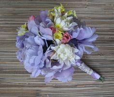 Silk Bridal Bouquet Spring/Summer Wedding by BridalAisleBouquets