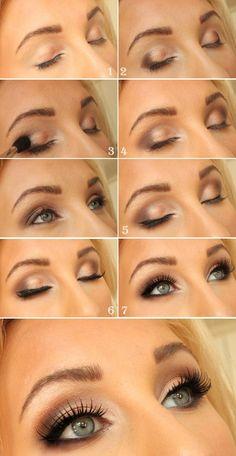 Eye makeup, simple, everyday look, pretty.