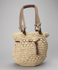 Straw Studios Natural Straw Tote by Straw Studios on #zulily today!
