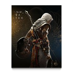 Artwork Prints, Fine Art Prints, Framed Prints, Warrior Braid, Canvas Frame, Canvas Art, Assassins Creed Origins, Assassin's Creed, Game Art