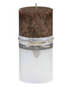 DecoBreeze Honey Fig & Teak Pillar Candle | zulily