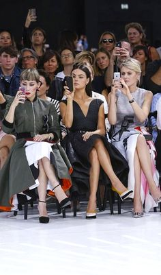 Front Row at Dior Ready to Wear Spring Summer 2015 Collection in Paris