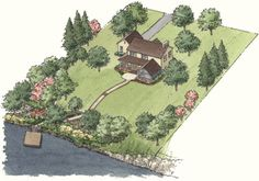 Landscaping for privacy - for that eventual dream property with acreage #PrivacyLandscape