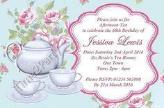 Personalised #vintage #afternoon tea #garden party birthday invitations invites ,  View more on the LINK: http://www.zeppy.io/product/gb/2/401062152954/