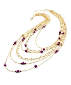 Take a look at this Purple & Gold Mercer Street Necklace by Amrita Singh on #zulily today!