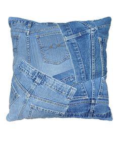 Denim Shorts Runway Pillow
