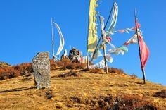 Sky burial ground, Bhutan.