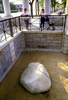 Plymouth Rock, Plymouth MA. Couldn't even touch it. So disappointing!
