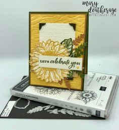 Celebrate Sunflowers Sneak Peek by Stamps-n-lingers - Cards and Paper Crafts at Splitcoaststampers Sunflower Cards, Wink Of Stella, Thing 1, Some Cards, Sympathy Cards, Stampin Up Cards, Cardmaking, Birthday Cards, Blog