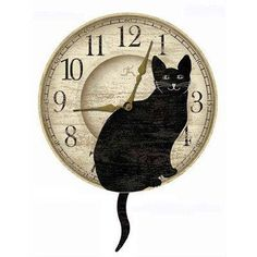 I love this cute cat wall clock.  This would look perfect in almost any room of your cat-tastic home.  This is one of my favorite pieces of cute cat home decor.     cat themed home decor. Continue reading to learn about cool cat themed home decor. Choices Of Home Decor For Cat Lovers - Perfect Cat Themed Home Decor
