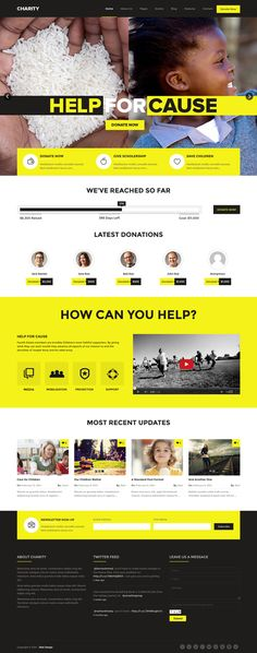 Charity Donations Foundation Fundraising premium WordPress theme, built on the Bootstrap Framework. #webdesign #wordpress