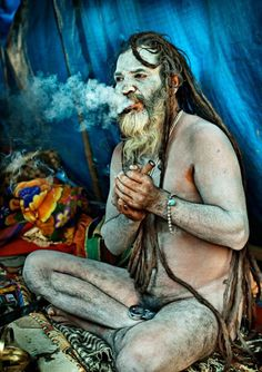 They are naga sadhus, who don't care about his body.