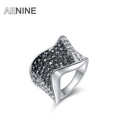 Fashion Rings gold-color anillos wedding rings Austrian crystal Environmental Micro-Inserted Jewelry R150030293P