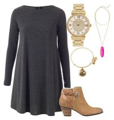 """Untitled #175"" by theprepworld ❤ liked on Polyvore featuring Michael Kors, GUESS, Alex and Ani and Kendra Scott"