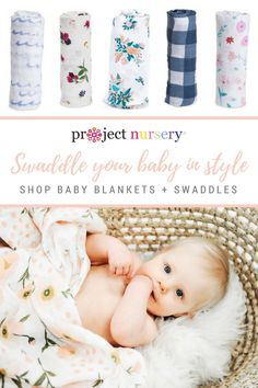 Wrap your baby in the sweetest, softest swaddle blankets from The Project Nursery Shop! Shop your favorite style for baby girl, baby boy or gender neutral.