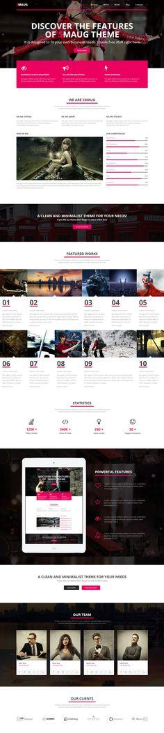 pink, contrast, one page, #concept, #website | Inspiration DE