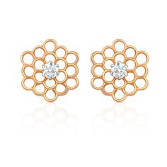 Diamond Earrings in 14K/18K Gold with 2 Forevermark diamonds weighing 0.30 cts (TDW)