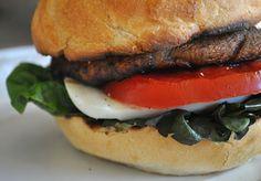 Grilled Caprese Portobello Mushroom Burger