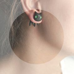 Hey, I found this really awesome Etsy listing at https://www.etsy.com/listing/153249886/one-earring-black-cat-jewelry-hand
