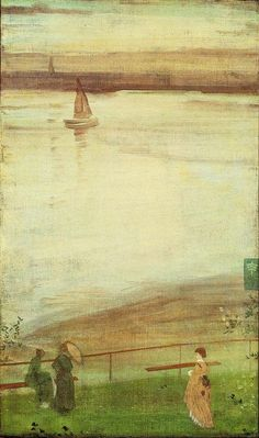 James Abbott McNeill Whistler - Variations in Violet and Green, 1871  #painting