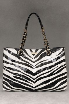 Kate Spade Leather Tote In Black And Cream