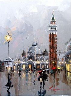 Street Life in Paintings of Kal Gajoum