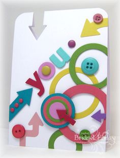 Cool, clean card and a good way to use scraps (Bridgets Paper Blessings) Teen Birthday, Birthday Cards, Paper Art, Paper Crafts, Die Cut Cards, Some Cards, Card Sketches, Creative Cards, Kids Cards