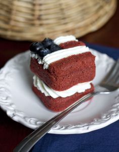 Mini Flag Layer Cakes
